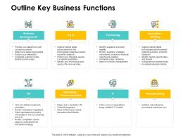 Outline Key Business Functions Strategy Ppt Powerpoint Presentation Ideas Inspiration