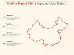 Outline Map Of China Depicting Major Regions