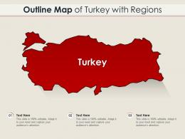 Outline Map Of Turkey With Regions
