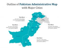 Outline Of Pakistan Administrative Map With Major Cities