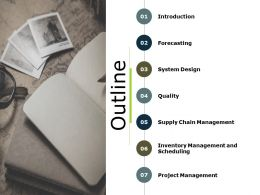 Outline Project Management Ppt Powerpoint Presentation Slides Images