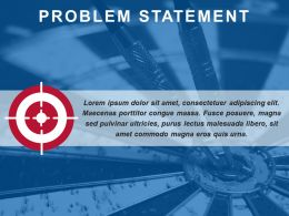Outlining Problem Statement With Target And Dart Board