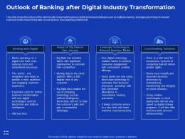 Outlook Of Banking Process Improvement In Banking Sector Ppt Model Portrait