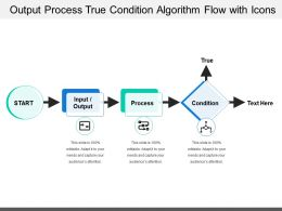Output Process True Condition Algorithm Flow With Icons