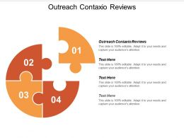 Outreach Contaxio Reviews Ppt Powerpoint Presentation File Master Slide Cpb