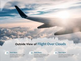 Outside View Of Flight Over Clouds