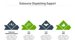 Outsource Dispatching Support Ppt Powerpoint Presentation Layouts Model Cpb
