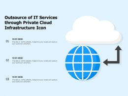 Outsource Of IT Services Through Private Cloud Infrastructure Icon