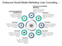 Outsource Social Media Marketing Lean Consulting Firm Model Canvas Cpb
