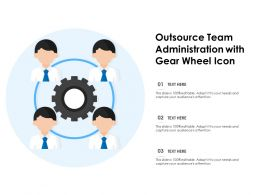 Outsource Team Administration With Gear Wheel Icon