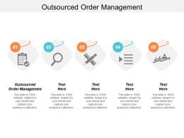 Outsourced Order Management Ppt Powerpoint Presentation Icon Graphics Cpb
