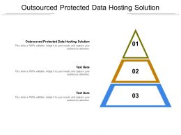 Outsourced Protected Data Hosting Solution Ppt Powerpoint Presentation Ideas Graphics Template Cpb
