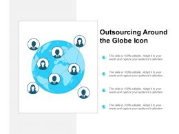 Outsourcing Around The Globe Icon