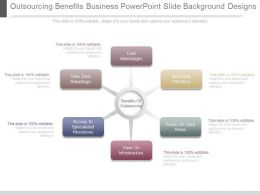 Outsourcing Benefits Business Powerpoint Slide Background Designs