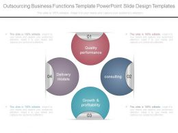 Outsourcing Business Functions Template Powerpoint Slide Design Templates