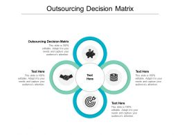 Outsourcing Decision Matrix Ppt Powerpoint Presentation Show Background Cpb
