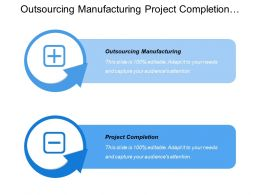 Outsourcing Manufacturing Project Completion Speed Implementation Anticipate Saving