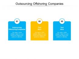 Outsourcing Offshoring Companies Ppt Powerpoint Presentation Layouts Example Topics Cpb