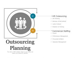 Outsourcing Planning Ppt Background Graphics