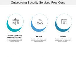 Outsourcing Security Services Pros Cons Ppt Powerpoint Presentation Professional Microsoft Cpb