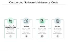 Outsourcing Software Maintenance Costs Ppt Powerpoint Presentation Show Background Images Cpb