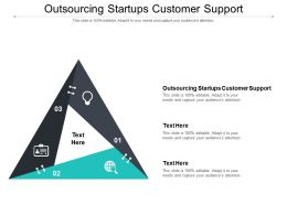 Outsourcing Startups Customer Support Ppt Presentation Professional Deck Cpb