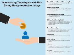 Outsourcing Techniques With Man Giving Money To Another Image