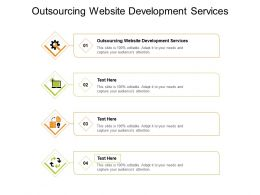 Outsourcing Website Development Services Ppt Powerpoint Presentation Styles Influencers Cpb