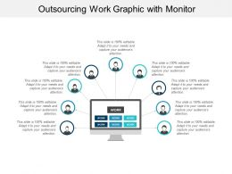 Outsourcing Work Graphic With Monitor