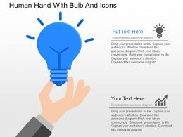 ov Human Hand With Bulb And Icons Powerpoint Template