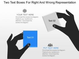 Ov Two Text Boxes For Right And Wrong Representation Powerpoint Template