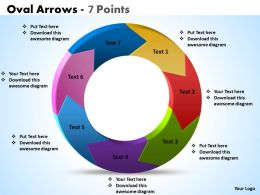 Oval Arrows 7 Points powerpoint Slides templates