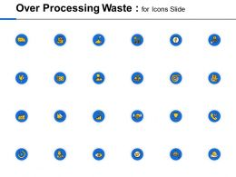 Over Processing Waste For Icons Slide Opportunity Ppt Powerpoint Presentation Model Smartart