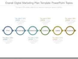 Overall Digital Marketing Plan Template Powerpoint Topics