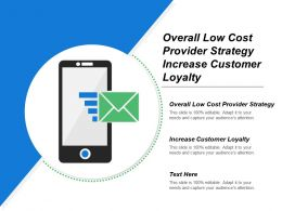 Overall Low Cost Provider Strategy Increase Customer Loyalty