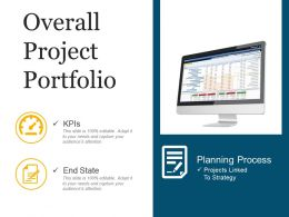 Overall Project Portfolio PPT Background Template