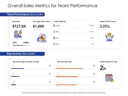 Overall Sales Metrics For Team Performance