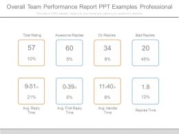 Overall Team Performance Report Ppt Examples Professional