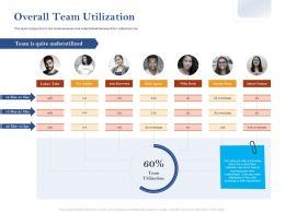 Overall Team Utilization Ppt Powerpoint Presentation Visual Aids Professional