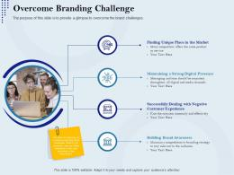 Overcome Branding Challenge Rebranding Approach Ppt Summary