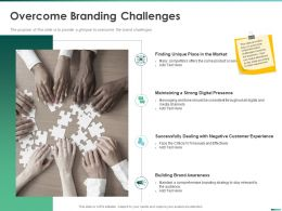 Overcome Branding Challenges Throughout Ppt Powerpoint Presentation Gallery Slide