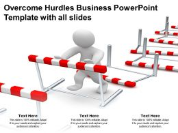 Overcome Hurdles Business Powerpoint Template With All Slides