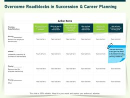 Overcome Roadblocks In Succession And Career Planning Barrier Ppt Powerpoint Presentation Gallery