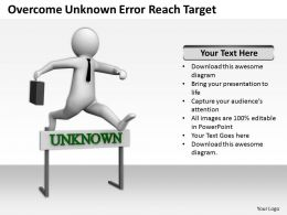 Overcome Unknown Error Reach Target Ppt Graphics Icons Powerpoint