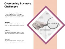 Overcoming Business Challenges Ppt Powerpoint Presentation File Ideas Cpb