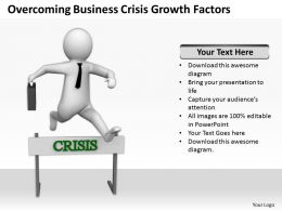 Overcoming Business Crisis Growth Factors Ppt Graphics Icons Powerpoint