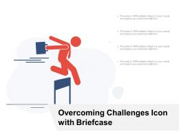 Overcoming Challenges Icon With Briefcase