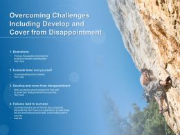Overcoming Challenges Including Develop And Cover From Disappointment