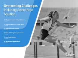 Overcoming Challenges Including Select Best Solution