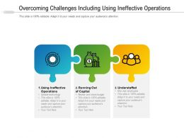 Overcoming Challenges Including Using Ineffective Operations